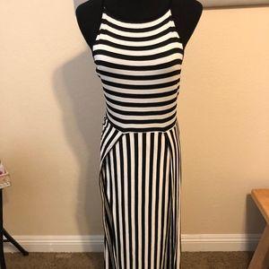 Dresses & Skirts - Black & White Striped Maxi Dress